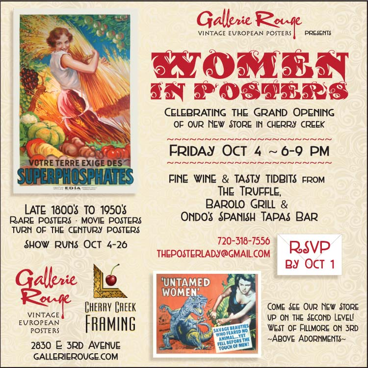 Gallerie Rouge presents Women in Posters – Cherry Creek Now