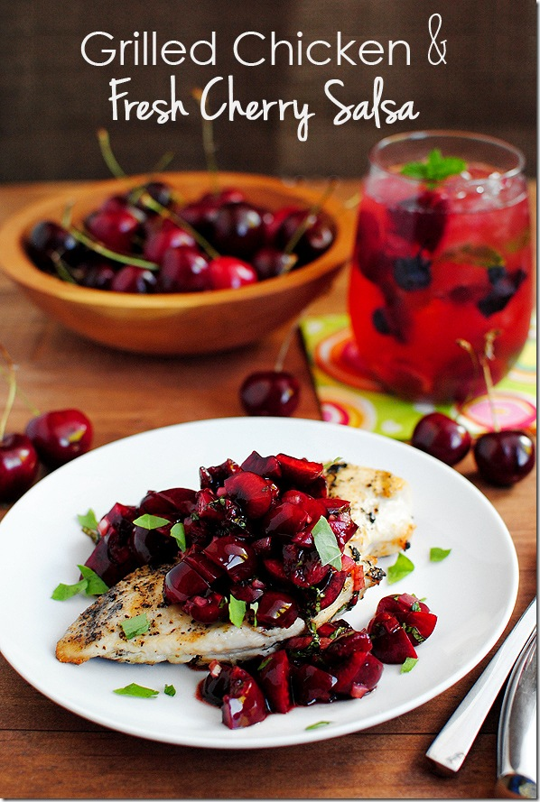 Grilled Chicken Cherry Salsa