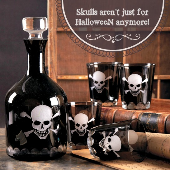 Castles Home Decor Skull Decanter